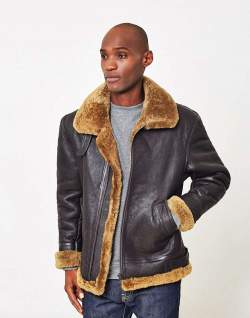 The Idle Man Brown Leather Jacket men