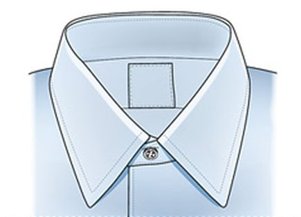 shirt collar forward point style