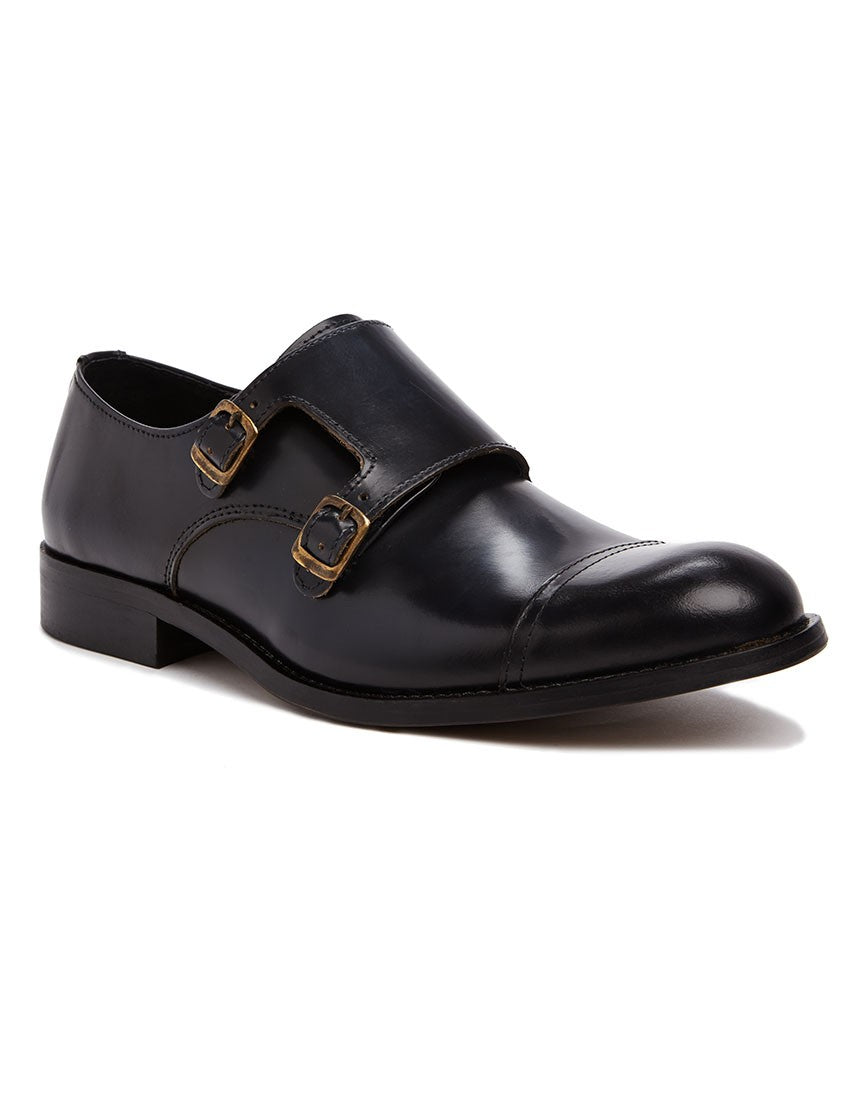Selected Monk Shoes black mens
