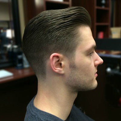 short pompadour black hair