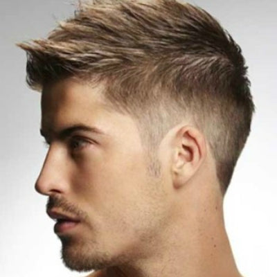short sideburns spikey hair mens