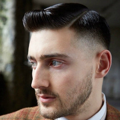 short smart mens side parting
