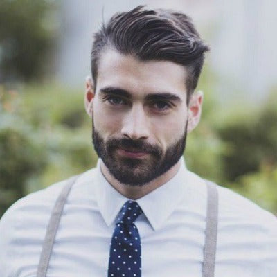 mens short smart work beard