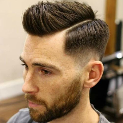 mens side part fade haircut spikey mens hair