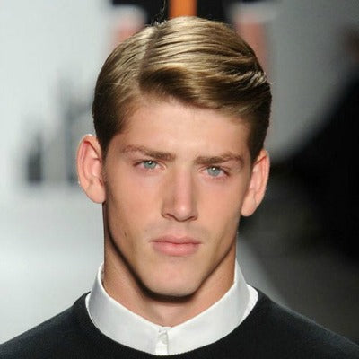 side parting mens preppy