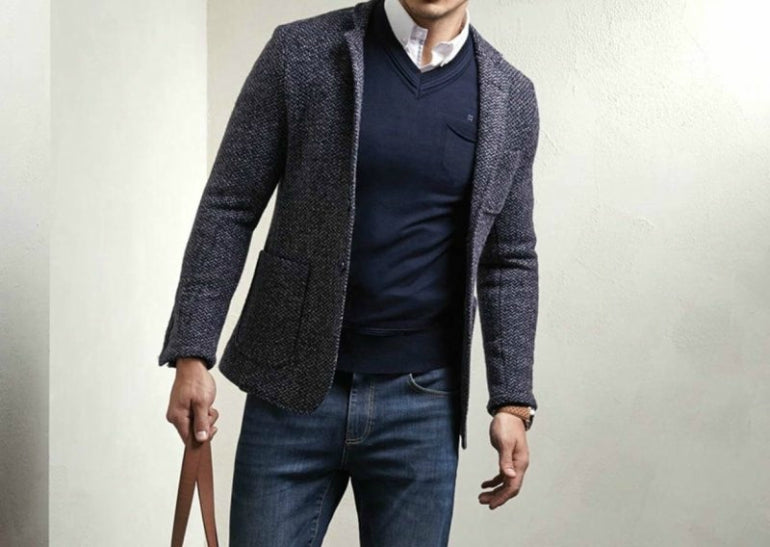 sports jacket with jeans