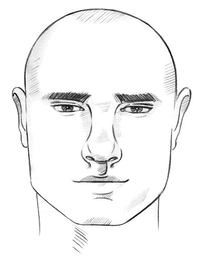 mens square face