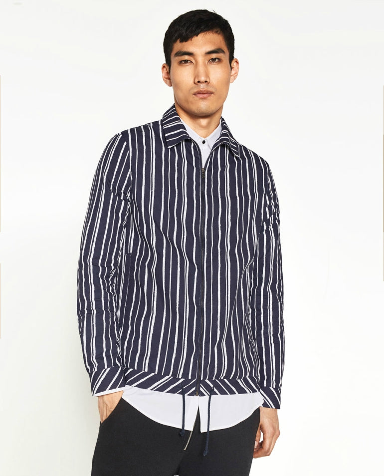 striped overshirt for men mens striped shacket