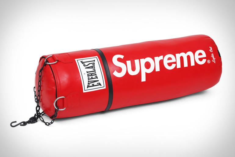 supreme everlast punch bag