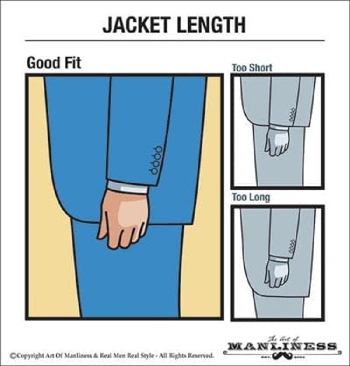 tailor made suit jacket length