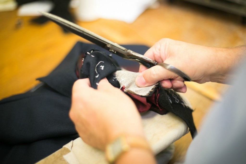 tailoring a suit at norton and sons