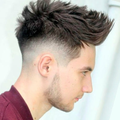 tapered sideburns spiky hair mens