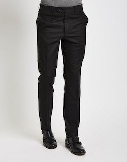 the idle man black skinny fit trousers for men