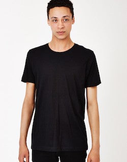 the idle man black t-shirt for men