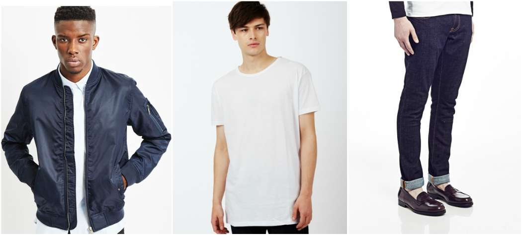 the-idle-man-blue-bomber-white-tshirt-blue-jeans-outfit-grid