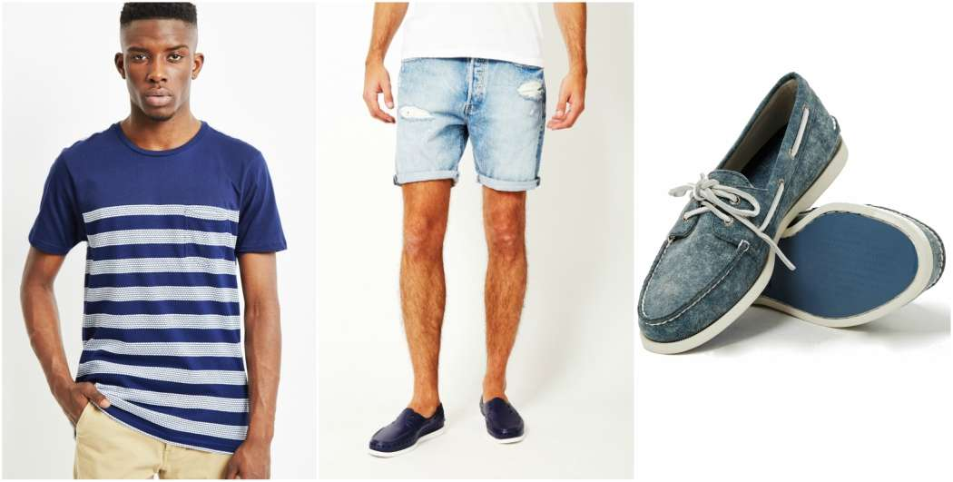 the-idle-man-blue-striped-tshirt-blue-shorts-blue-sperrys-outfit-grid