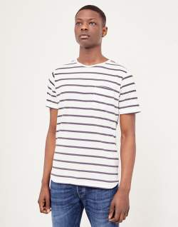 the idle man breton stripe t-shirt white