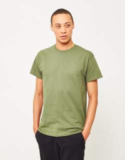 the idle man classic green t shirt mens