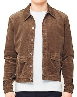 the idle man corduory jacket brown for men