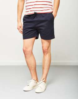 The Idle Man Elasticated Shorts Navy
