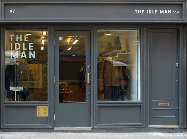 the idle man guide store outside