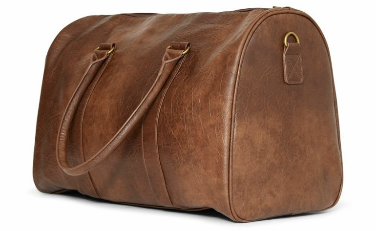 the-idle-man-leather-look-overnight-bag-tan