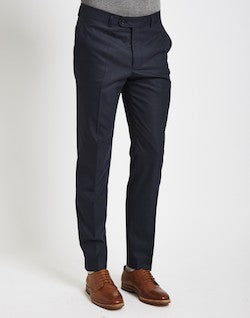 the idle man navy suit trousers