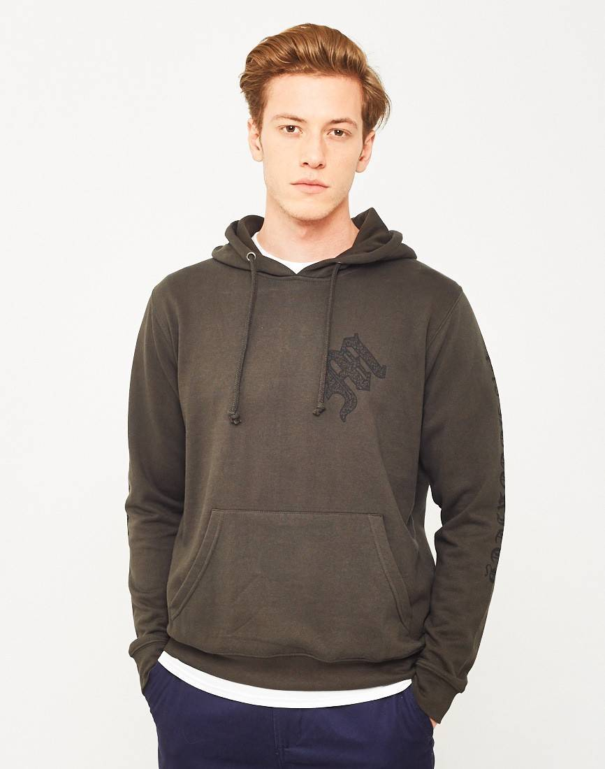 the idle man notoriety hoodie green