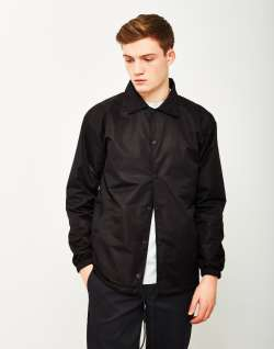 The Idle Man Nylon Coach Jacket Black