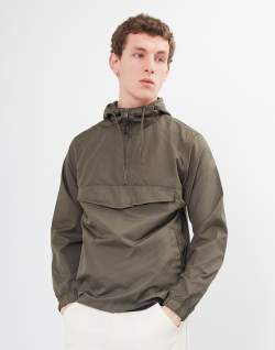 the idle man overhead anorak green