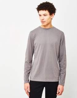 the idle man perfect long sleeve t-shirt grey