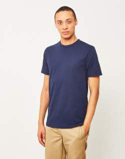 the idle man perfect t-shirt navy chinos beige mens