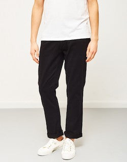 the idle man straight leg chino black for men