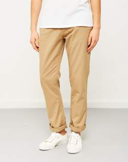 the idle man straight leg chino stone