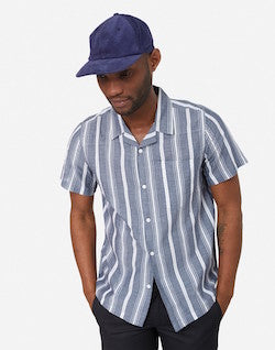 gant rugger bocle stripe pullover shirt navy