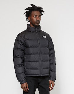 the north face nuptse 2 jacket black grey