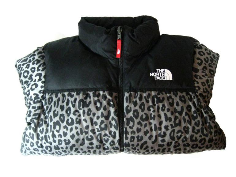 the north face supreme leopard nuptse
