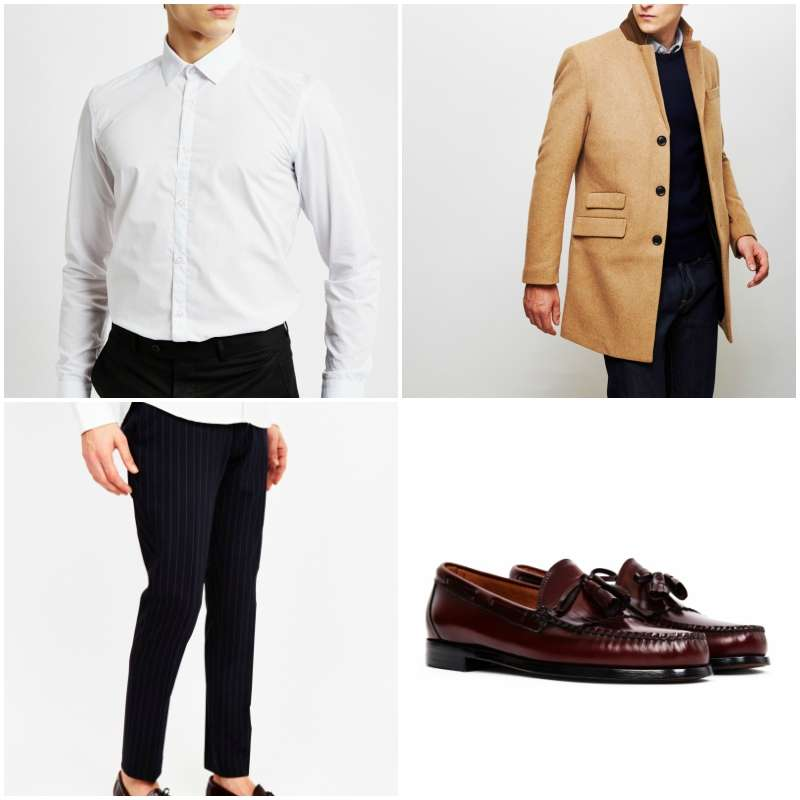 the rose bar drinks outfit pinstrip loafer the idle man