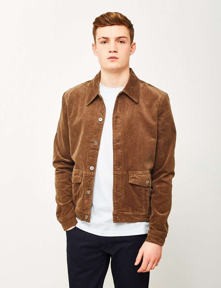 the idle man mens corduory jacket brown