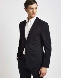 The Idle Man Suit Jacket black mens