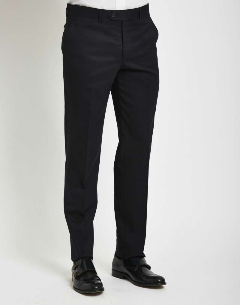 THE IDLE MAN mens Suit Trousers in Slim Fit - Navy