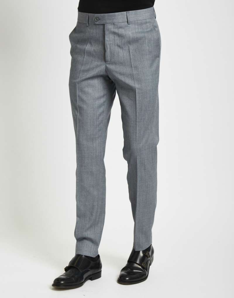 THE IDLE MAN Suit Trousers in Skinny Fit Grey men