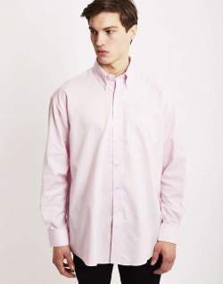 The Idle Man Pink Oxford Shirt mens