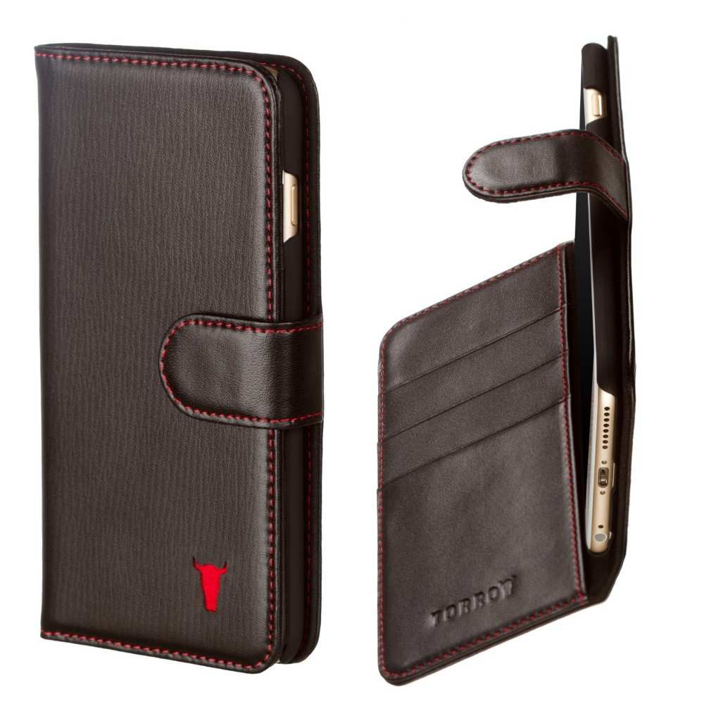 torro brown leather phone case