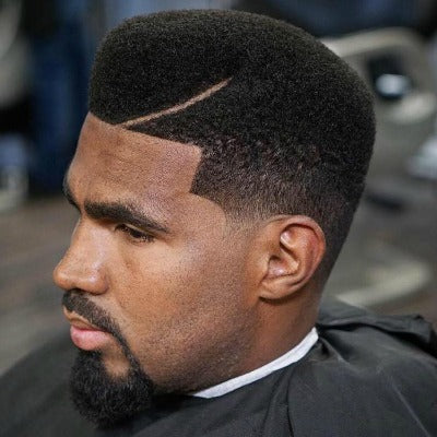 trimmed high afro hair men