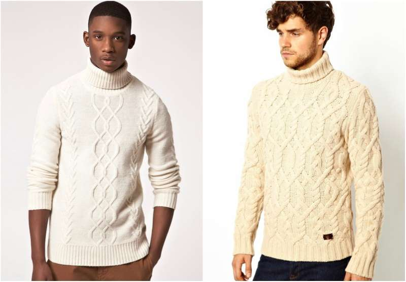 turtle necks white jumper