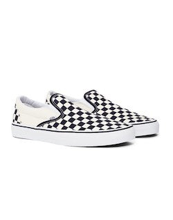vans checked slip on trainers for men