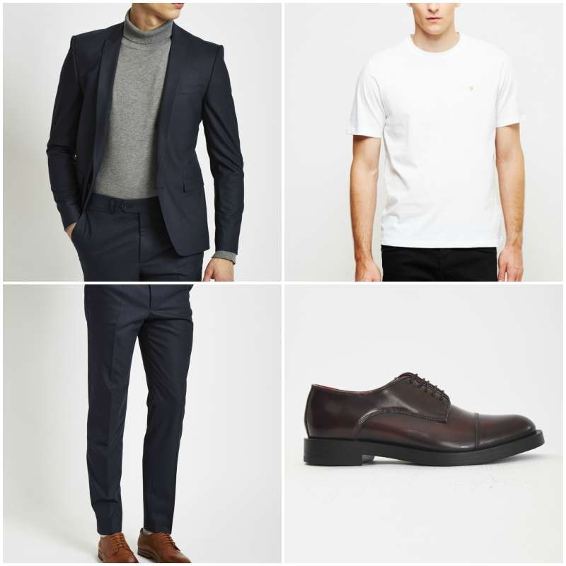 what to wear the idle man navy suit derby oxblood