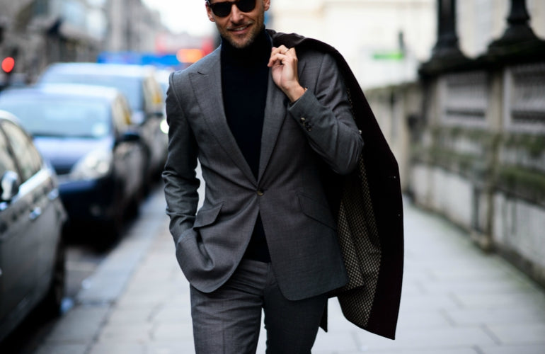 what to wear with a grey blazer dark grey