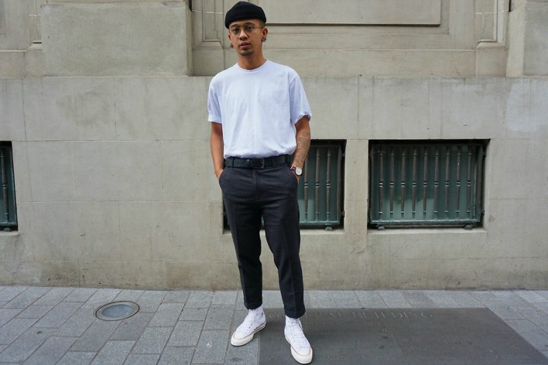 white converse mens street style